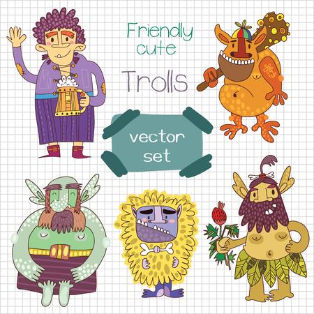 troll: Bright fantastic characters