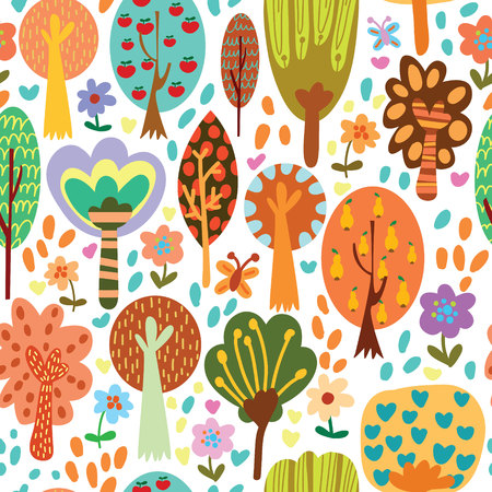 animal silhouettes: Outdoor concept seamless pattern.Seamless pattern can be used for wallpaper, pattern fills, web page backgrounds, surface textures.