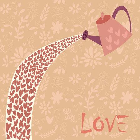 love card: Stylish love card. Vector illustration