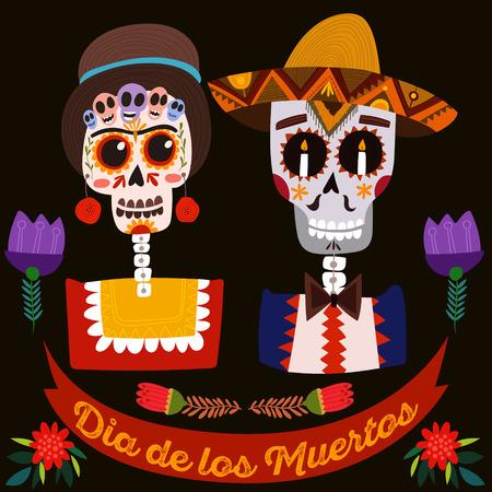 メキシコの砂糖の頭骨 - 死者の日。