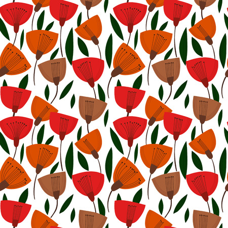 Floral background with tulips.