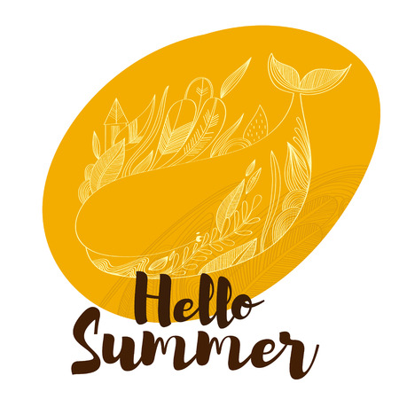 Merveilleux Hello Summer  Awesome Whale. Lovely Card In Stylish Colors With.. Royalty  Free Cliparts, Vectors, And Stock Illustration. Image 54919023.