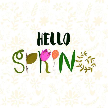 Diseño gráfico floral de la primavera - con flores de colores - para la camiseta, la moda, impresiones - en el vector - Imagen vectorial Ilustración de vector