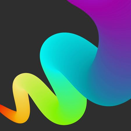 Abstract color rainbow bacground. Gradient dynamic tube Illustration