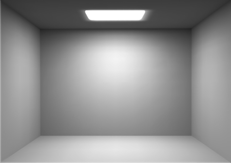 A Vector empty white room isolated on plain background.