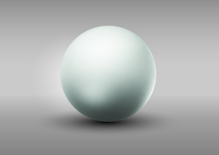 Blank gray sphere isolated on gray background.