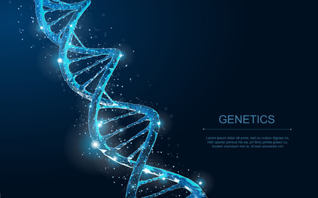 Medical science, genetic biotechnology, chemistry biology, gene cell concept vector illustration or background