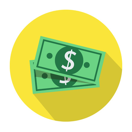 Dollar money cash icon, cash register, money payment, dollar sign, currency Ilustração