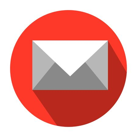 Flat Icon design of Mail. Mail vector icon. E-mail icon, Envelope illustration, message