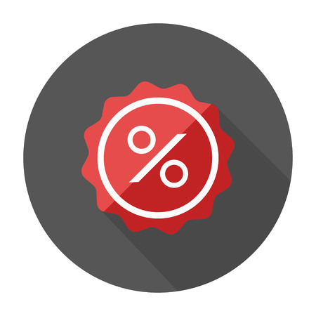 Label percent icon. sale discount illustration - graphic price