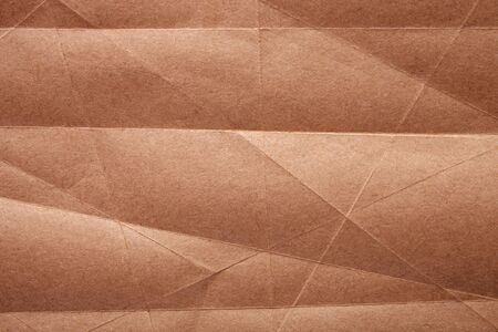 Brown craft paper texture as background. Top view