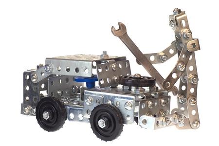 Motor mechanic-robot working in auto repair service  photo