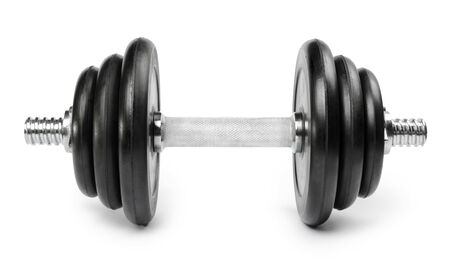discs: Dumbbell Isolated on White