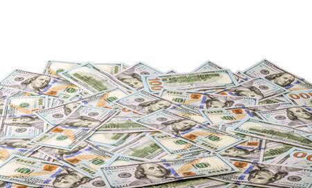 one hundred dollars: One hundred dollars pile