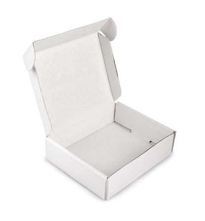 white blank box isolated on white background photo