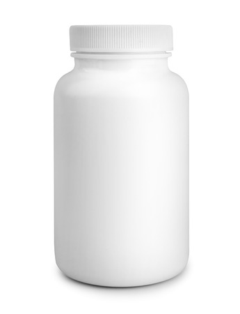 medicine white pill bottle isolated on a white background Banco de Imagens - 30461571