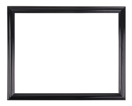 Isolated black picture frame Stok Fotoğraf