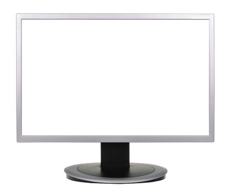 tft: wide screen TV isolated on a white