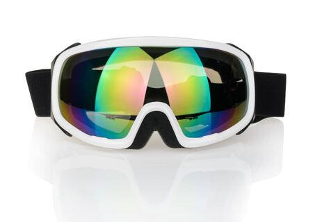 ski goggles: Ski glasses isolated on a white Stock Photo