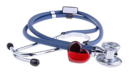 stethoscope, isolated on white background photo