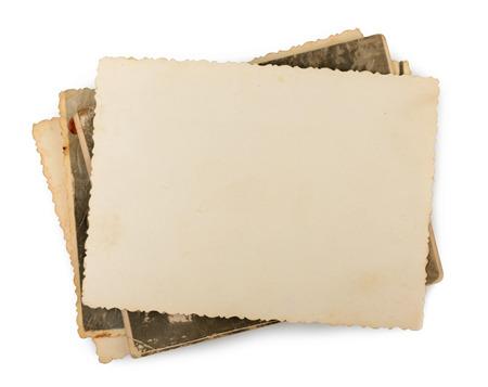 oude foto geïsoleerd Stockfoto