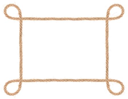 rope border: rope frame isolated Stock Photo