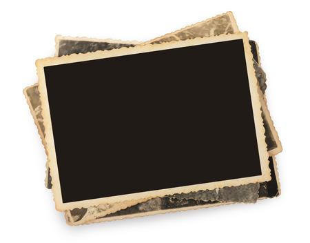 Stapel oude foto's geïsoleerd Stockfoto - 32345362