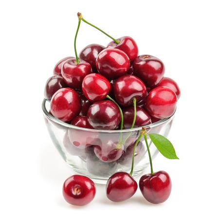 cherries isolated Stock fotó - 32345367