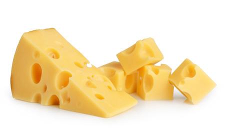 Morceau de fromage isolé Banque d'images - 32637417