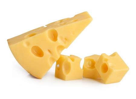 Stuk kaas geïsoleerd Stockfoto - 33105595