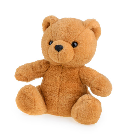 Toy teddy bear isolated on white Imagens - 33731356