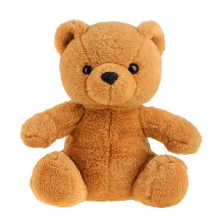 Speelgoed teddybeer geïsoleerd op wit, knipsel