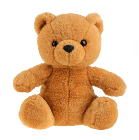 Toy teddy bear isolated on white, cutout Stock Photo - 33731357
