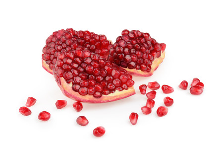 punica granatum: Pomegranate isolated
