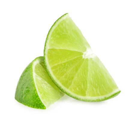 lime slice: lime slices isolated Stock Photo