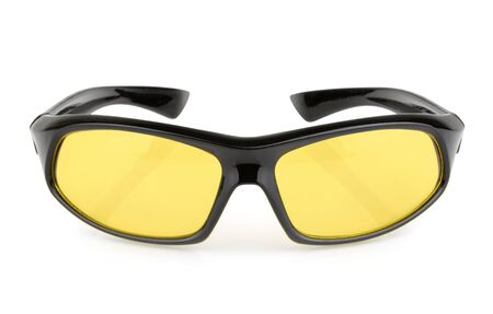 protecting spectacles: Sports sunglasses isolated Stock Photo