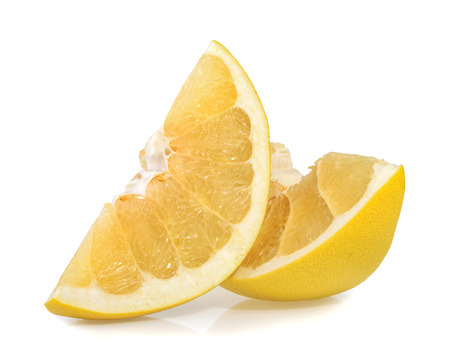 freshest: Pomelo or Chinese grapefruit slices isolated on the white background Stock Photo