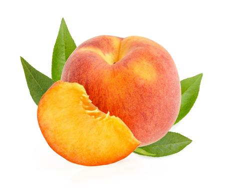 Peaches isolated Reklamní fotografie
