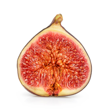 purple fig: fig isolated on white Stock Photo