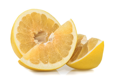 freshest: Pomelo or Chinese grapefruit isolated on the white background