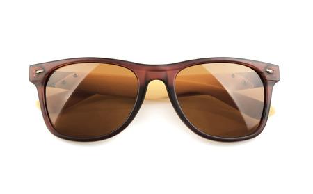 fashionable sunglasses: Sunglasses isolated against a white background