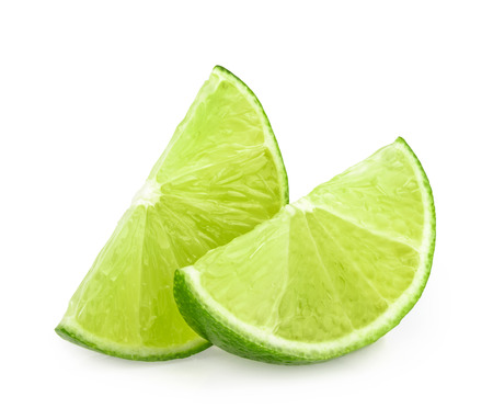 lime slices isolated Stock Photo