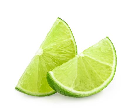 Tranches de citron vert isolé Banque d'images - 39788384