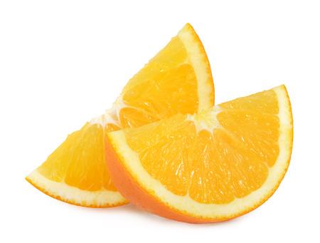 orange slices isolated on white