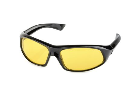athletic wear: Sports sunglasses isolated Stock Photo