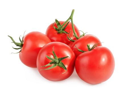tomate: Tomates isolé sur blanc Banque d'images