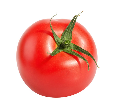 tomate: Tomate isol� sur fond blanc