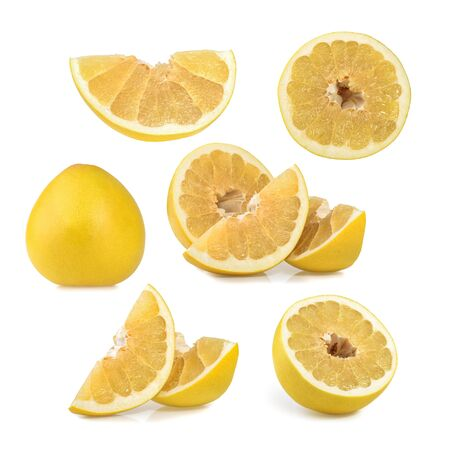 pomelo: Pomelo or Chinese grapefruit isolated on the white background