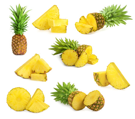 pineapple slice: pineapple isolated