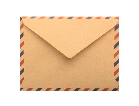 papier a lettre: Enveloppe brun isol�. fermer